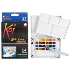 Watercolor Paint Pocket Field Sketch 24-Color Set