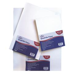 "Quadrille Paper 4x4 Grid 100-Sheet Pack 17"" x 22"""