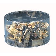 Brass Wedge Single Hole Sharpener Display