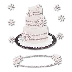 Sticker Wedding Cake