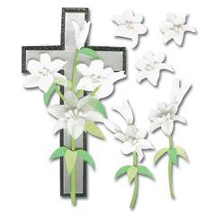 Jolee's Boutique Sticker Crosses/Lilies