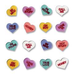 Sticker Conversation Hearts 3D Stickers