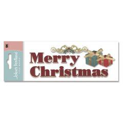 3-D Title Sticker Bold Christmas