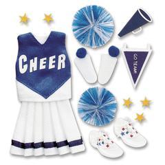 Jolee's Boutique Sticker Blue Cheerleading