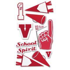 Jolee's Boutique Stickers Red School Spirit