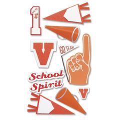 Jolee's Boutique Stickers Orange School Spirit
