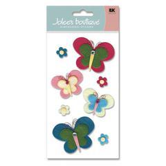 Jolee's Boutique Felt Sticker Playful Butterflies
