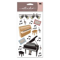 Sticko Vellum Stickers Piano Recital