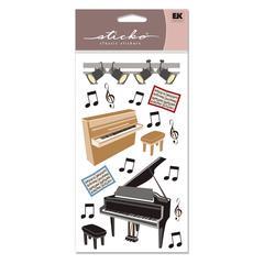 Vellum Stickers Piano Recital