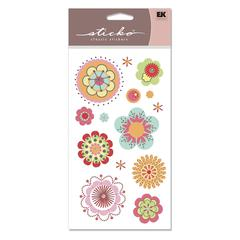 Vellum/Foil Stickers Romany Flower