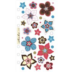 Vellum Stickers Retro Flower Works