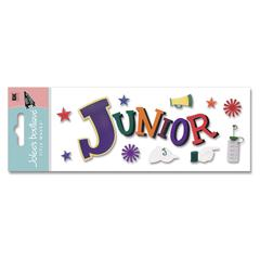 3-D Title Sticker Junior