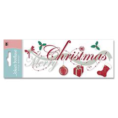 3-D Title Sticker Merry Christmas