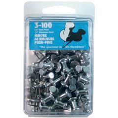"Moore 3/8"" Push-Pins 100-Pack"