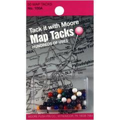 """5/16"""" Map Tacks 50-Pack"""