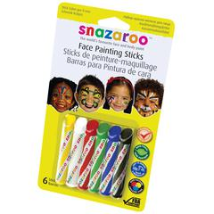 Snazaroo Face Painting 6-Stick Primary Set
