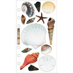 Jolee's Boutique Photo Stickers Seashells