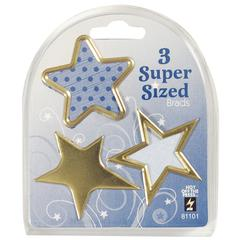 Hot Off the Press Super Sized Brads Gold Star