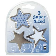 Hot Off the Press Super Sized Brads Silver Star