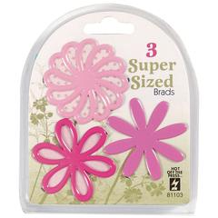 Super Sized Brads Pink Flower