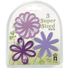 Super Sized Brads Purple Flower