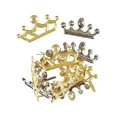 Hot Off the Press Shaped Brads Crown Gold & Silver