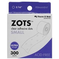 Therm O Web Zots Clear Adhesive Boxed Dots Small