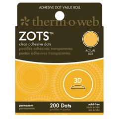 Clear Adhesive Boxed Dots 3-D