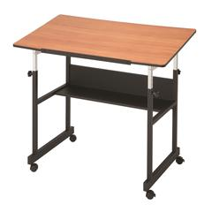Alvin MiniMaster II Table Black Base with Woodgrain Top