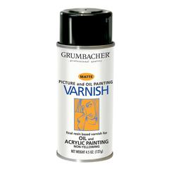 Damar Matte Varnish Spray for Oil and Acrylics 4.5oz