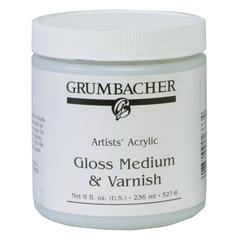Grumbacher Gloss Medium and Varnish for Acrylics