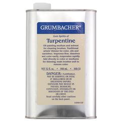 Grumbacher Turpentine 32oz
