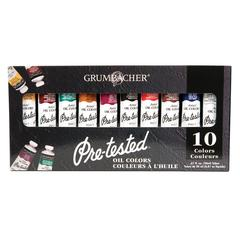 Grumbacher Pre-Tested Oil Paint 10-Color Set