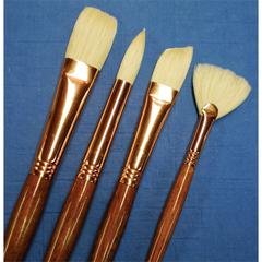 Best Refine Natural Bristle Oil and Acrylic Brush Short Filbert 4