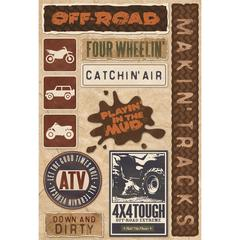 Karen Foster Design Cardstock Sticker Off Road