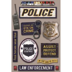 Cardstock Sticker Police