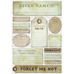 Cardstock Sticker Ancestry Journal