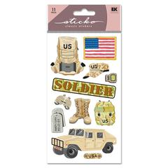 Sticko Classic Stickers US Soldier