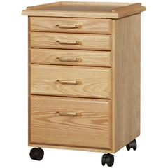 Oak 5 Drawer Taboret