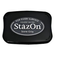 StazOn Solvent Ink Pad Stone Gray