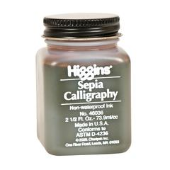 Non-Waterproof Sepia Calligraphy Ink