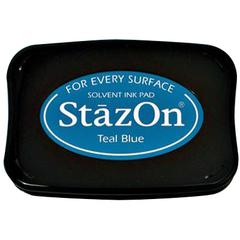 StazOn Solvent Ink Pad Teal Blue