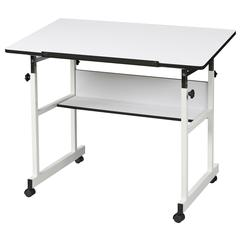 Alvin MiniMaster II Table White Base with White Top
