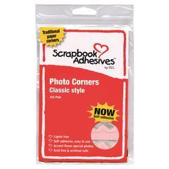 Paper Photo Corners Pink