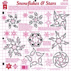 "Hot Off the Press 12"" x 12"" Papercrafing Template Snowflakes/Stars"
