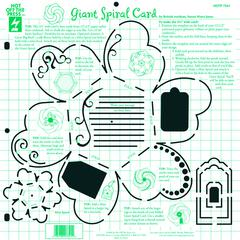 "Hot Off the Press 12"" x 12"" Papercrafing Template Giant Spiral Card"