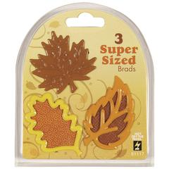 Super Sized Brads Fall Leaves