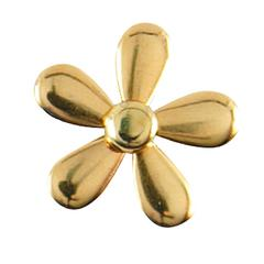 Decorative Metal Brads Funky Flowers Gold