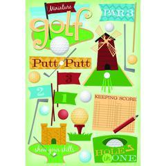 Cardstock Sticker Miniature Golf
