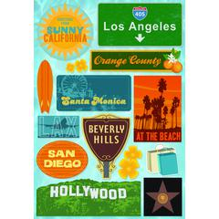 Cardstock Sticker So California